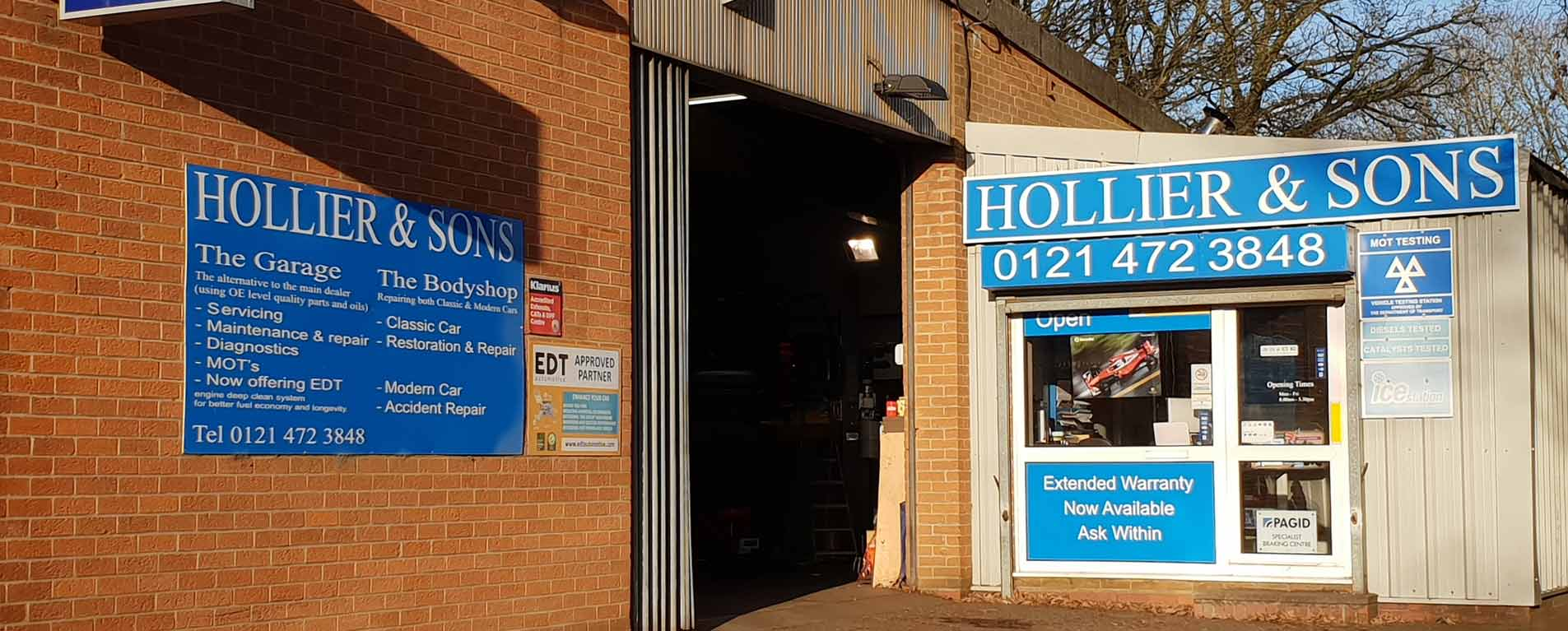 Holliers Garage Bournville